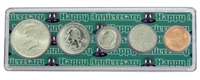 2007 - Anniversary Year Coin Set in Happy Anniversary Holder