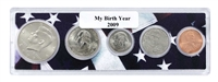 2009 Birth Year Coin Set in American Flag Holder
