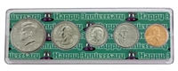 2009 - Anniversary Year Coin Set in Happy Anniversary Holder