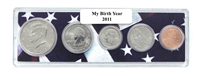 2011 Birth Year Coin Set in American Flag Holder