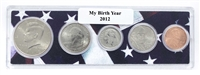 2012 Birth Year Coin Set in American Flag Holder