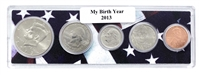 2013 Birth Year Coin Set in American Flag Holder