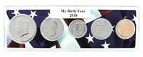 2018 Birth Year Coin Set in American Flag Holder