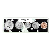 2021 Birth Year Coin Set in American Flag Holder