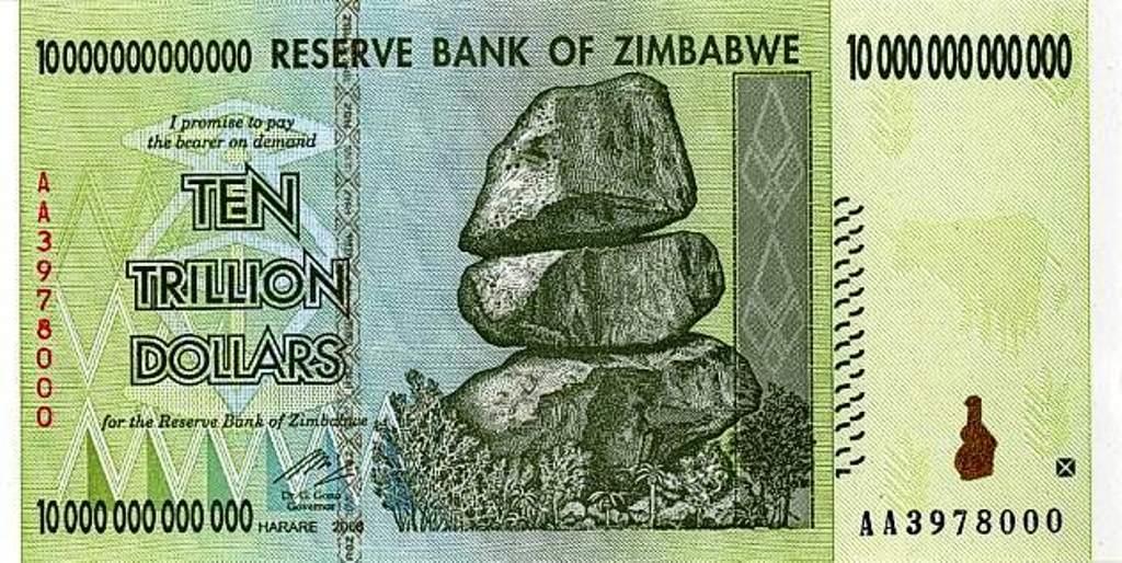 10 Trillion Zimbabwe Dollar Note