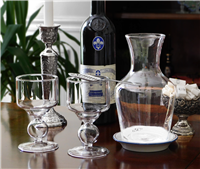 Absinthe Glasses, Spoons And Carafe Set