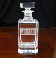 Etched Glass Absinthe Decanter