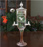 Etched Glass Petite 2 Spout Absinthe Fountain