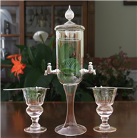 Petite 2 Spout Absinthe Fountain With Glasses & Spoons