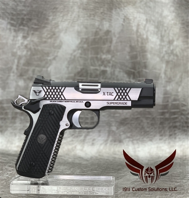 Wilson Combat XTAC Supergrade Commander 9MM - Stainless Steel with Polished Sides