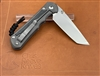 Large Inkosi Inlay Micarta Canvas Black- Tanto