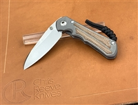 Small Inkosi Inlay Micarta Canvas Natural / Insingo
