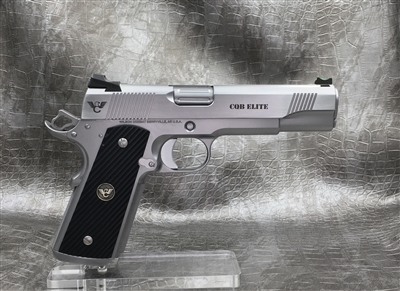 "Wilson Combat CQB Elite 5"" .45ACP - Stainless Steel with Matte Bead Blast & Polished Slide"