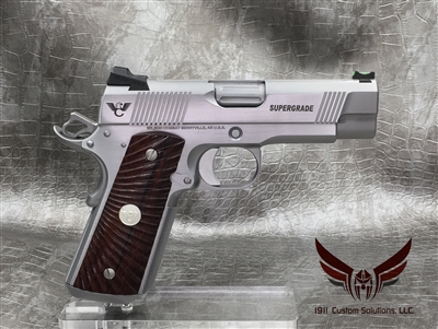 "Wilson Combat Tactical Supergrade Professional 4"" .45acp - Stainless Steel with Matte Bead Blast & Polished Slide and Frame"
