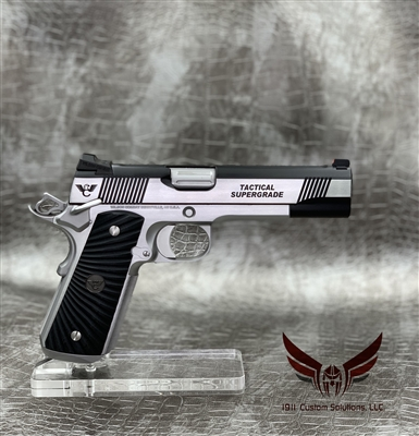 "Wilson Combat Tactical Supergrade 5"" 9MM - STAINLESS STEEL & BLACK ARMOR TUFF"