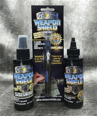 Weapon Shield Solvent and CLP Kit