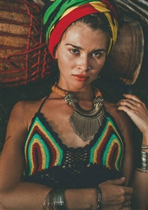 Rasta Crochet Top
