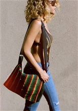 Rasta Stripe Messenger Bag
