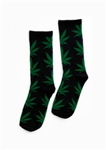 Weed Leaf Tube Socks