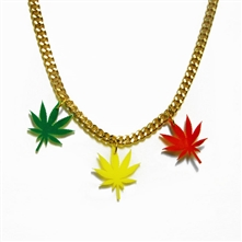 Rasta Ganja Leaf Necklace