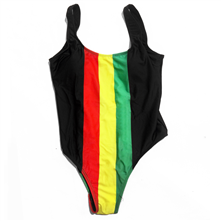 Rasta Stripe Swimsuit