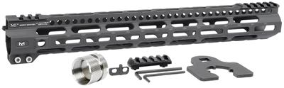 MI-ULW15<br>MI Ultra Lightweight One Piece Free Float Handguard, M-LOK(TM) compatible