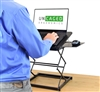 Uncaged Ergonomics CD4 Ergonomic Laptop Stand and Standing Desk (Black)