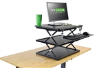Uncaged Ergonomics CHANGEdesk Adjustable Height Sit to Stand Desk Riser - BLACK