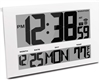 JUMBO LCD ATOMIC WALL CLOCK WITH 6 TIME ZONES (WHITE)