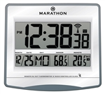 Atomic Self-Setting, Self-Adjusting Wall Clock w/ 4 Time Zones (GRAPHITE GREY)