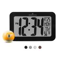 Atomic Self-Setting, Self-Adjusting Panoramic Clock (BLACK)