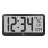 Jumbo Panoramic 8 Time Zone Atomic Clock (BLACK)