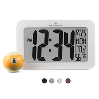 Atomic Self-Setting, Self-Adjusting Panoramic Clock (WHITE)