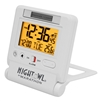 Marathon Atomic Travel Alarm Clock w/ Auto Night Light (WHITE)