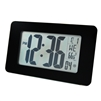 Marathon Atomic Self-Setting/Adjusting Wall Clock w/ 8 Time Zones (BLACK GLASS))