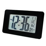Marathon Atomic Self-Setting/Adjusting Wall Clock w/ 8 Time Zones (BLACK)
