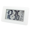 Marathon Atomic Self-Setting/Adjusting Wall Clock w/ 8 Time Zones ( WHITE GLASS)