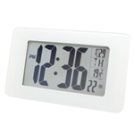 Marathon Atomic Self-Setting/Adjusting Wall Clock w/ 8 Time Zones (WHITE)