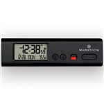 Marathon Compact Atomic World Clock w/ LED Emergency Light (BLACK)