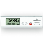 Marathon Compact Atomic World Clock w/ LED Emergency Light (WHITE)