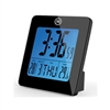 Marathon Digital Desktop Clock w/Date & Temp, SuperGlow Backlight (BLACK)