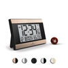 Atomic Digital Wall Clock with Auto Night Light, Temperature & Humidity (BLACK/GOLD))