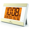 Elite Series Atomic Wall Clock, Auto Night Light, w/Temp. & Humidity (WHITE)