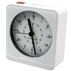 Marathon Analog Desk Alarm Clock With Auto-Night Light (WHITE)