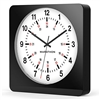 Marathon Jumbo 12-Inch Analog Wall Clock w/ Auto-Night Light & Silent Sweep (BLACK/WHITE)