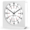 Marathon Jumbo 12-Inch Analog Wall Clock w/ Auto-Night Light & Silent Sweep (WHITE)