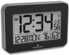 Crystal Framed Atomic Wall Clock with Temperature & Humidity (BLACK)
