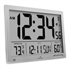 Slim Jumbo Digital Atomic Wall Clock (GRAPHITE GREY)