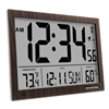 Slim Jumbo Digital Atomic Wall Clock (WOOD)