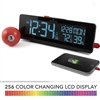 The Spectrum Color Changing LED Display Alarm Clock with Dual USB Charging Station
